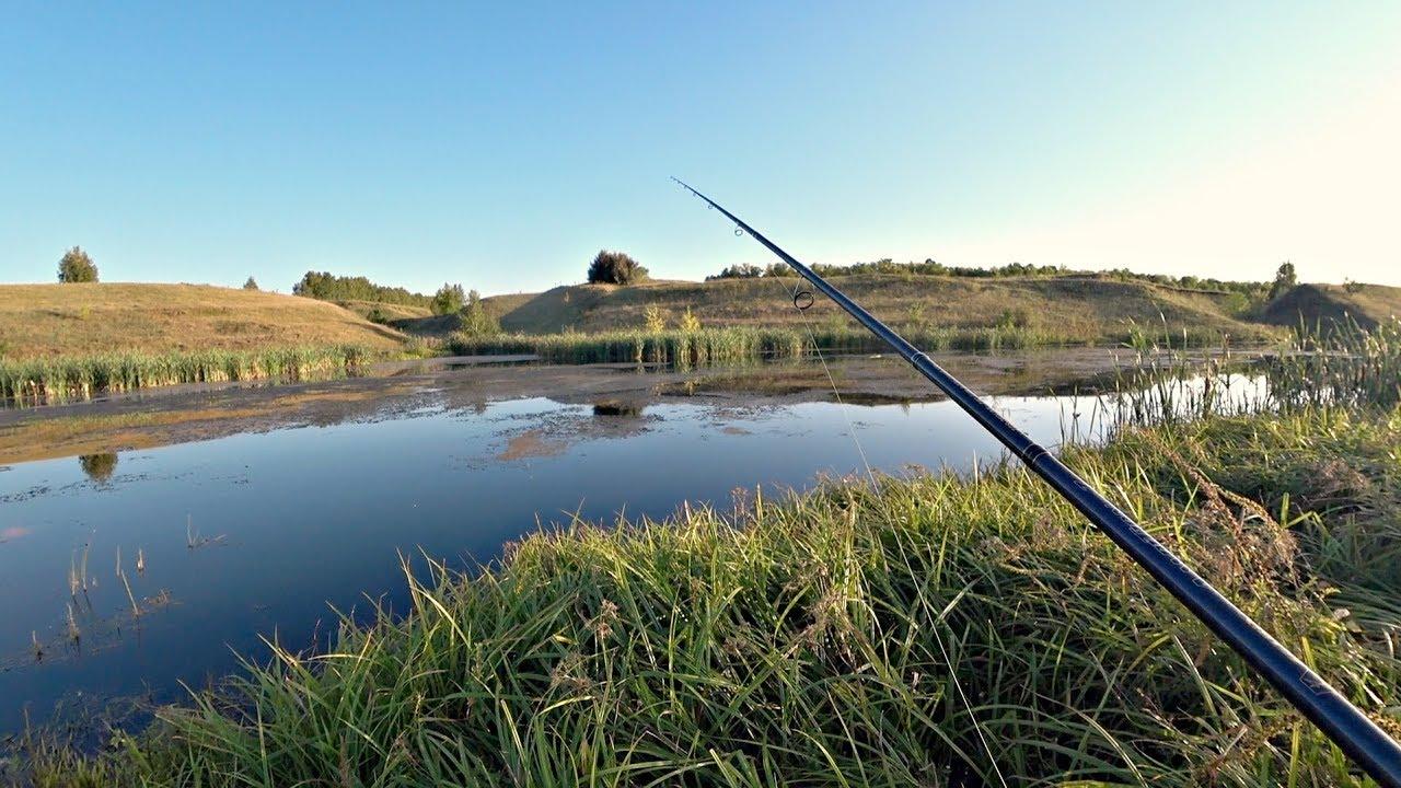 Этот маленький пруд в поле таит в себе много Щуки!! Рыбалка на спиннинг.